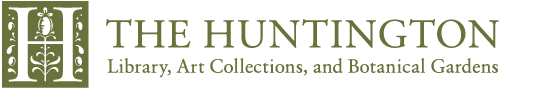 The Huntington Library, Art Collections, and Botanical Gardens. All rights reserved. 1151 Oxford Road, San Marino, CA 91108 626.405.2100